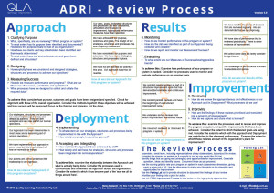 ADRI Review Process