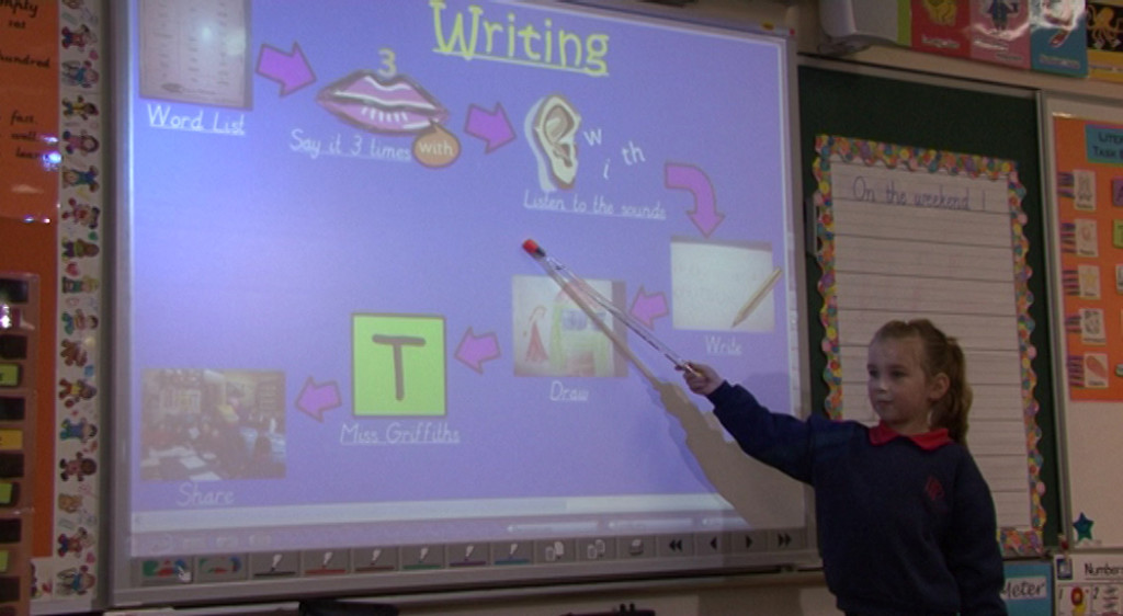 A junior primary student from Plenty Parklands Primary School describes the writing process