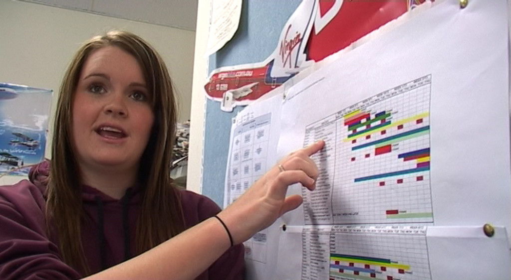 A student from Seaford 6-12 School in South Australia describes the use of a Gantt Chart to plan and track progress of an assignment