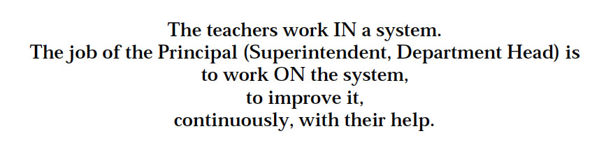 Teachers work in a system