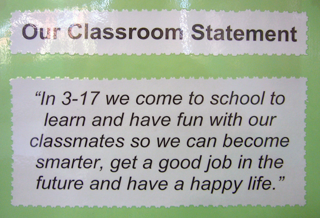 A class clarifies its purpose with a mission statement