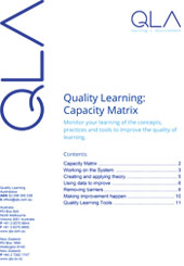Capacity Matrix: Quality Learning