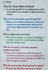 Five Whys? Year 8 Mathematics