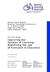 Improving Our Systems of Learning