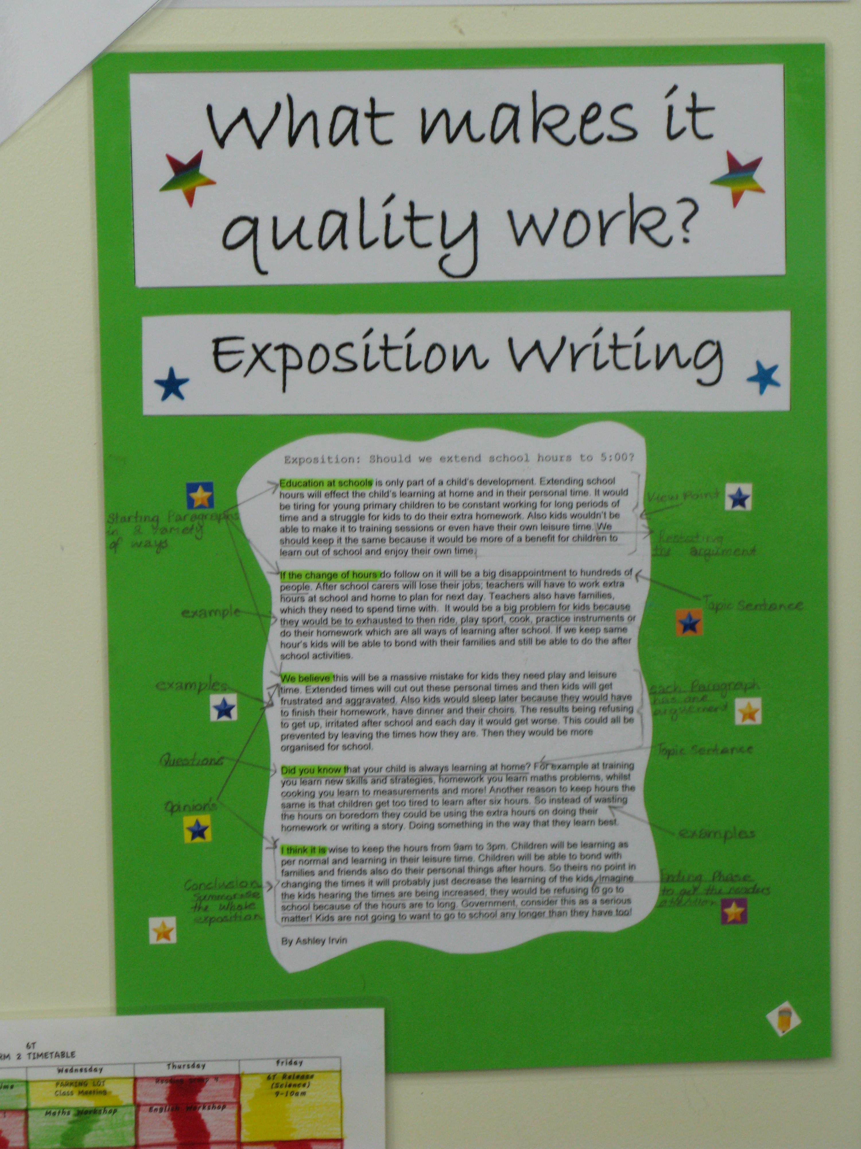 Quality Improvement Tools Quality Criteria Exposition Writing