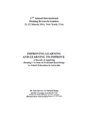 Improving Learning and Learning to Improve